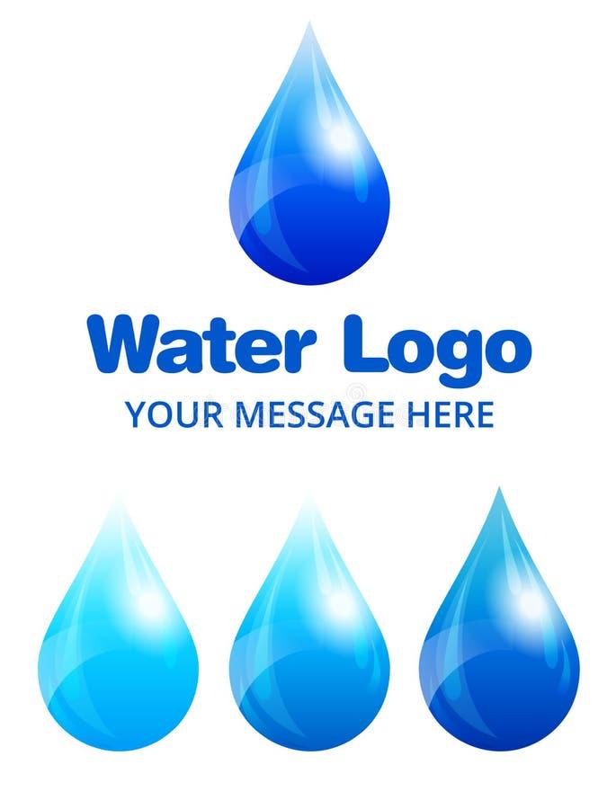 Logo della goccia di acqua per l'affare o l'organizzazione ambientale illustrazione vettoriale
