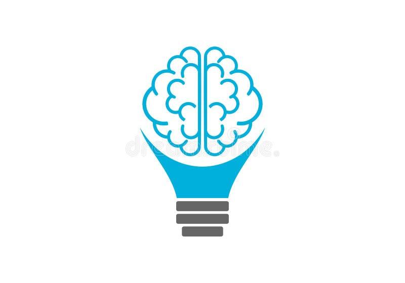 Logo della lampadina del cervello royalty illustrazione gratis