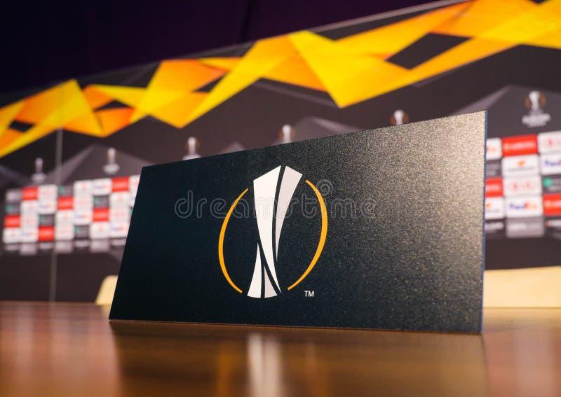 Logo della lega di europa dell'UEFA fotografie stock