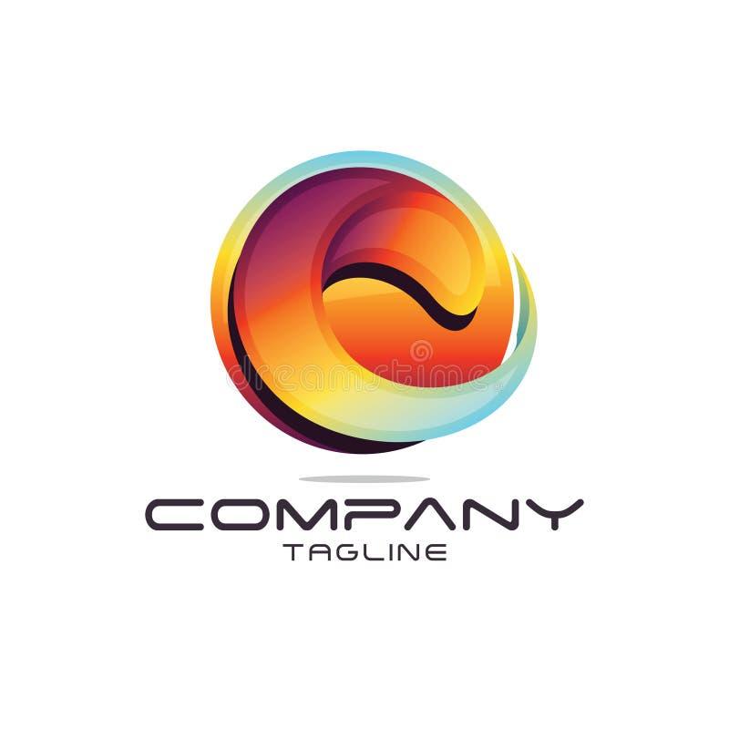 Logo della lettera C illustrazione di stock