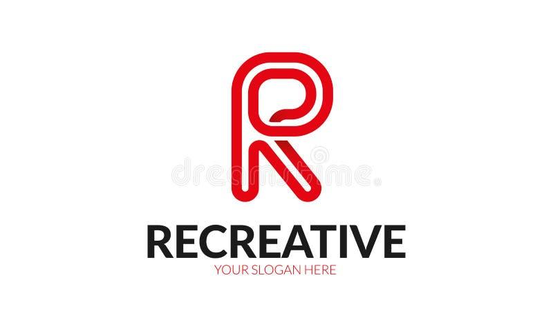 Logo della lettera della R illustrazione vettoriale