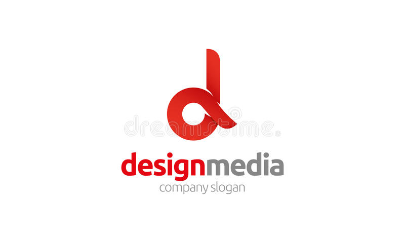 Logo della lettera di D illustrazione di stock