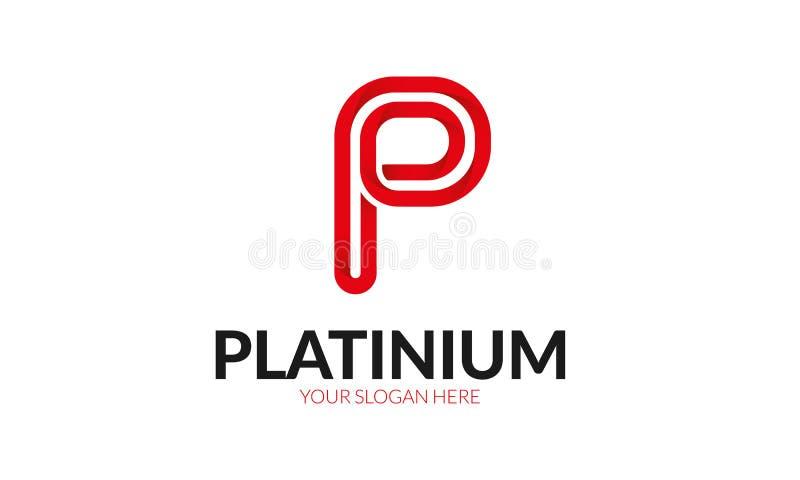 Logo della lettera di P illustrazione di stock
