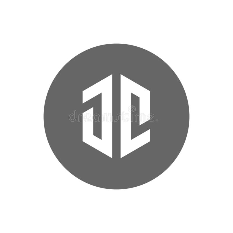 Logo della lettera iniziale JC Icona moderna e minimalista - vettore royalty illustrazione gratis