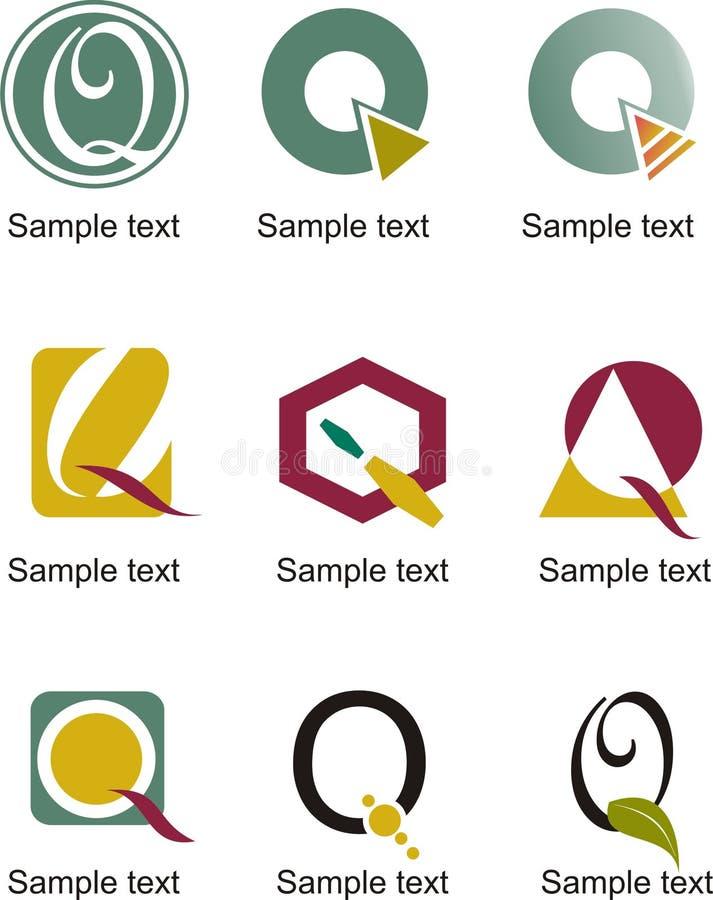 Logo della lettera Q illustrazione di stock