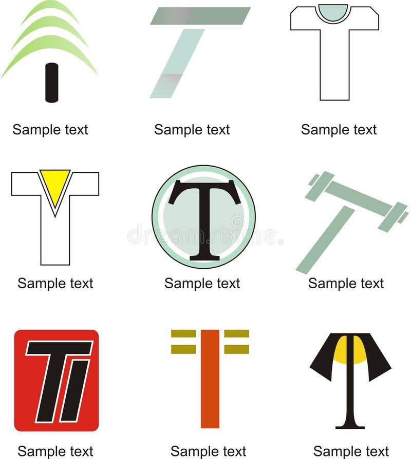 Logo della lettera T royalty illustrazione gratis
