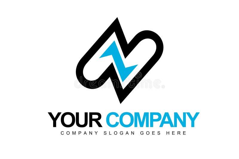 Logo della lettera Z illustrazione di stock