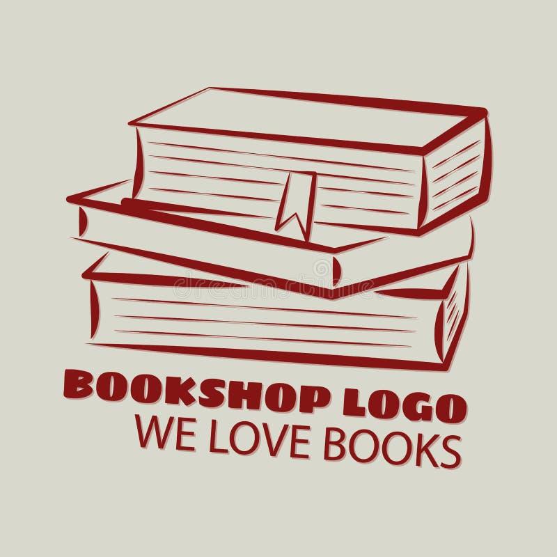 Logo della libreria illustrazione vettoriale