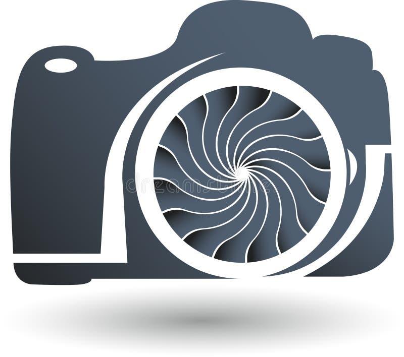 Logo della macchina fotografica illustrazione di stock