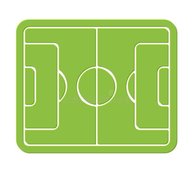 Logo della marcatura del campo di calcio, icona vuota dello stadio, erba verde, prato inglese di calcio, elemento dei grafici del royalty illustrazione gratis