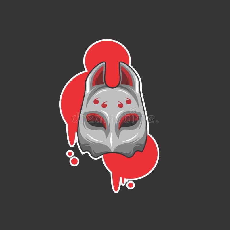 Logo della maschera di Samirai royalty illustrazione gratis