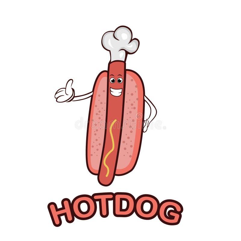 Logo della mascotte del hot dog fotografia stock