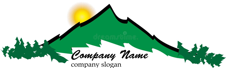 Logo della montagna di affari royalty illustrazione gratis