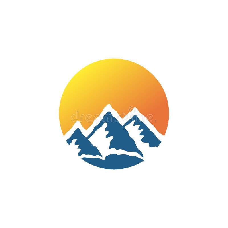 Logo della montagna, logo della natura o icona Bussola royalty illustrazione gratis