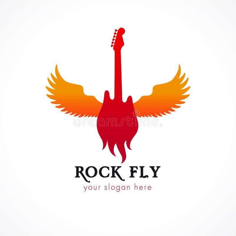 Logo della mosca della roccia illustrazione vettoriale