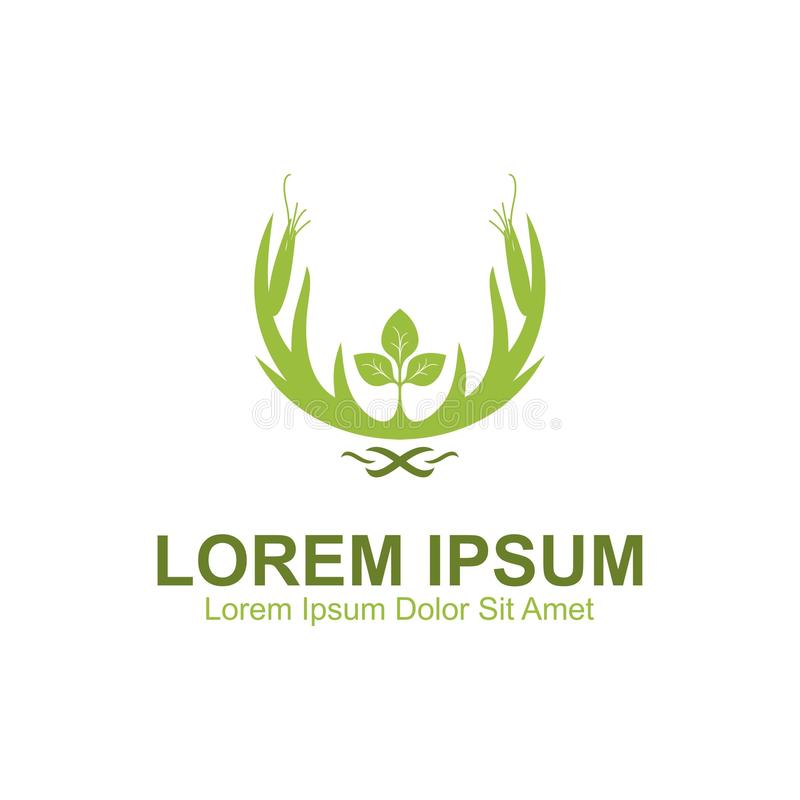 Logo della natura dei cervi illustrazione di stock