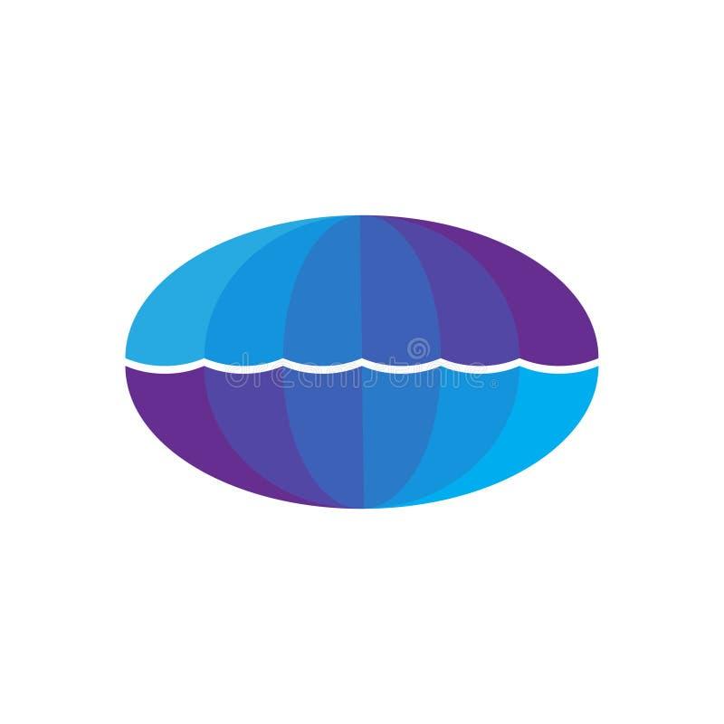 Logo della perla della conchiglia di ostrica illustrazione vettoriale