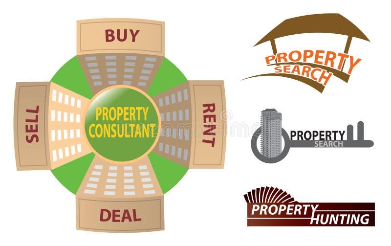 Logo della proprietà illustrazione vettoriale