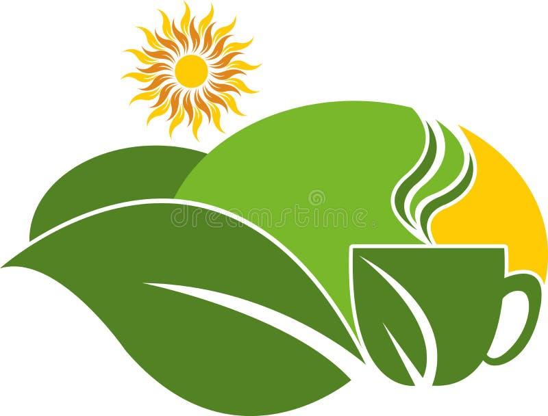 Logo della proprietà del tè illustrazione vettoriale