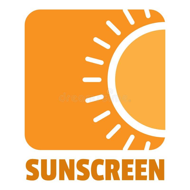Logo della protezione solare, stile piano royalty illustrazione gratis