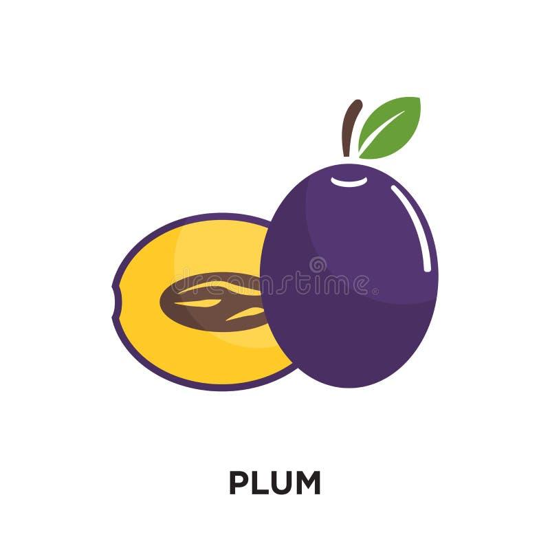 logo della prugna isolato su fondo bianco per il vostro web, mobile e royalty illustrazione gratis