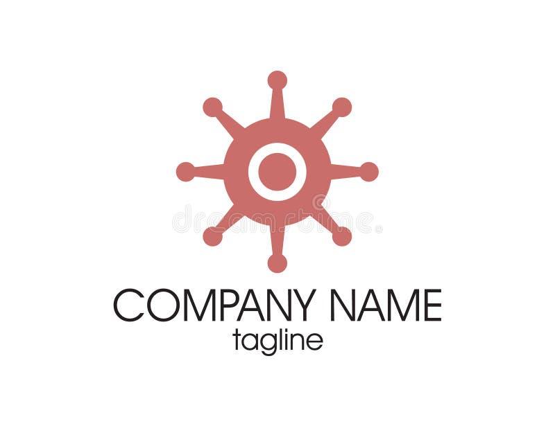 Logo della ruota di navigazione royalty illustrazione gratis
