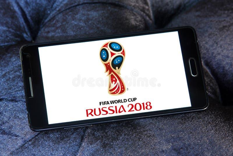 Logo 2018 della Russia della coppa del Mondo della FIFA fotografie stock