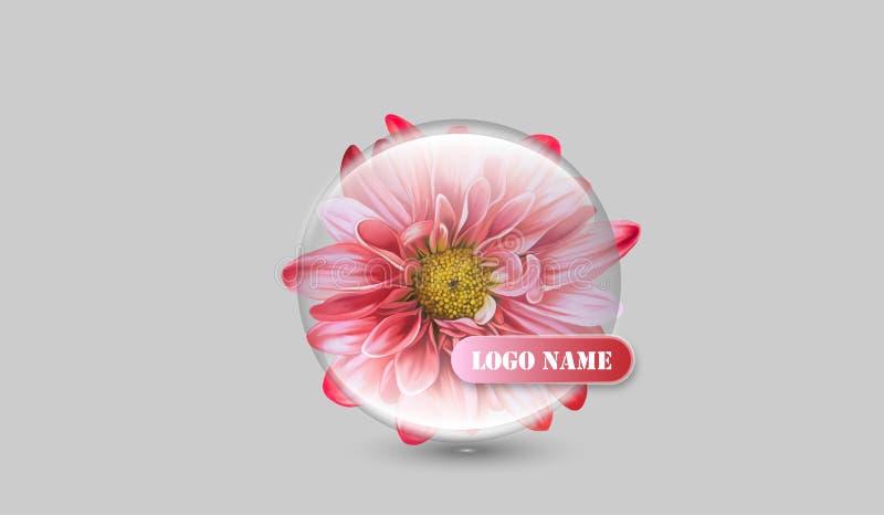 Logo della società del fiore illustrazione vettoriale
