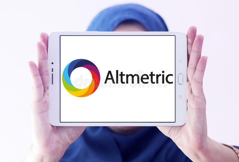 Logo della società di Altmetric immagine stock