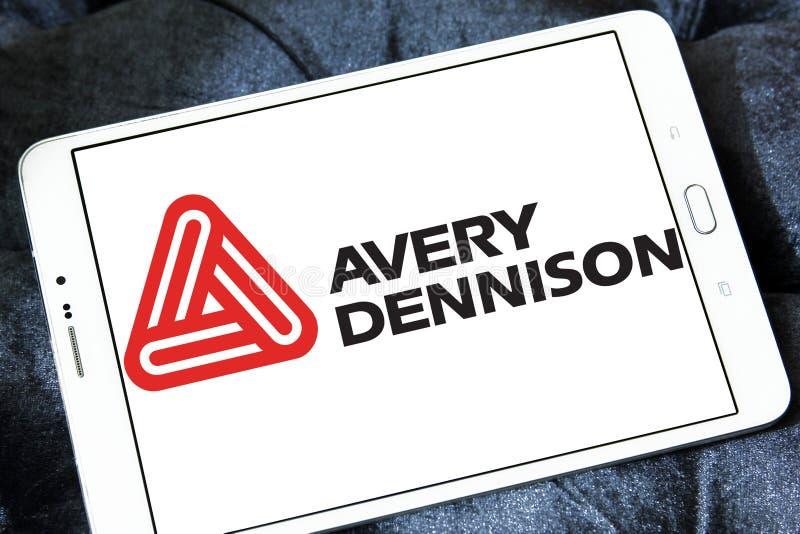 Logo della società di Avery Dennison immagine stock