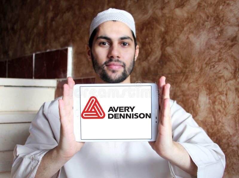 Logo della società di Avery Dennison immagini stock libere da diritti