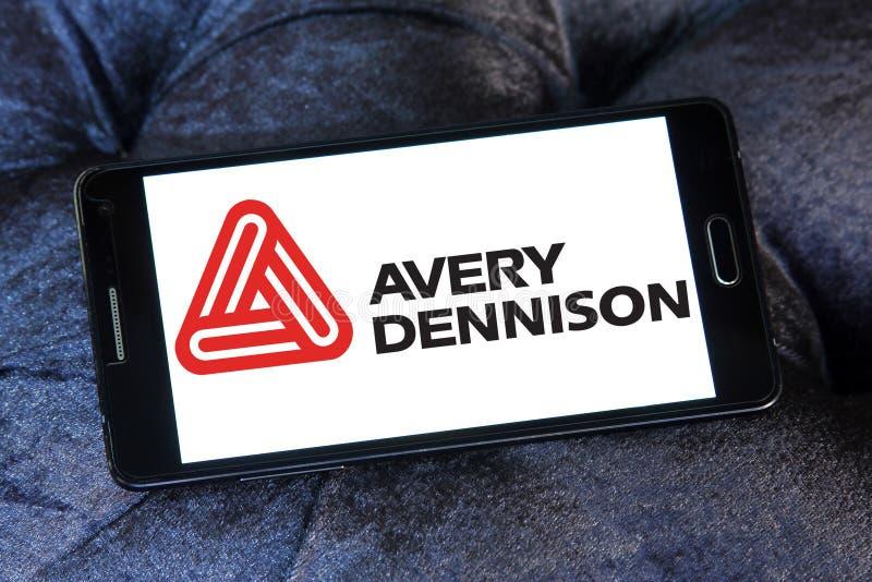 Logo della società di Avery Dennison fotografia stock