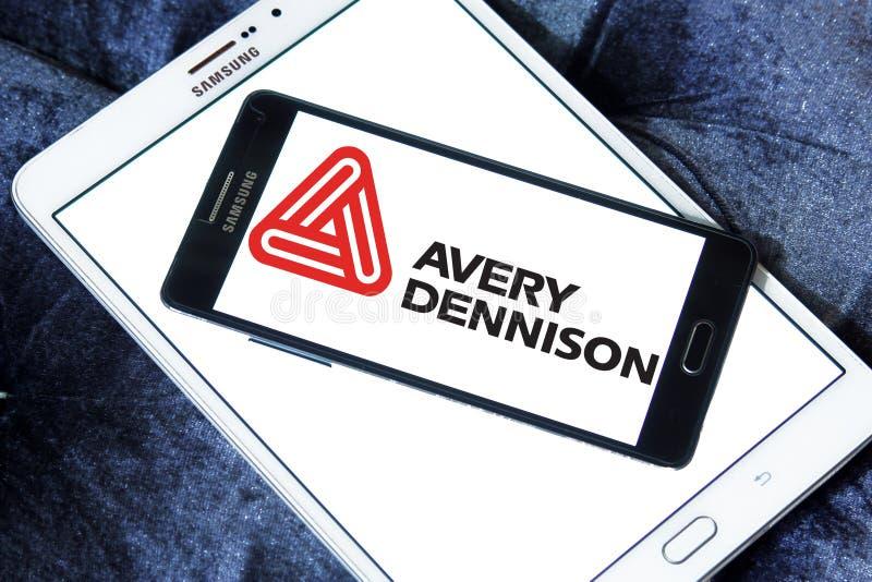 Logo della società di Avery Dennison immagine stock libera da diritti