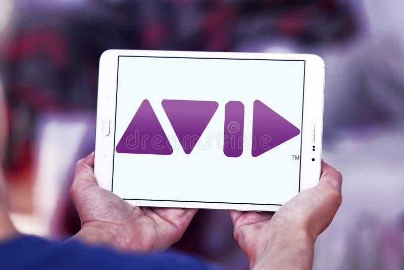 Logo della società di Avid Technology immagini stock libere da diritti