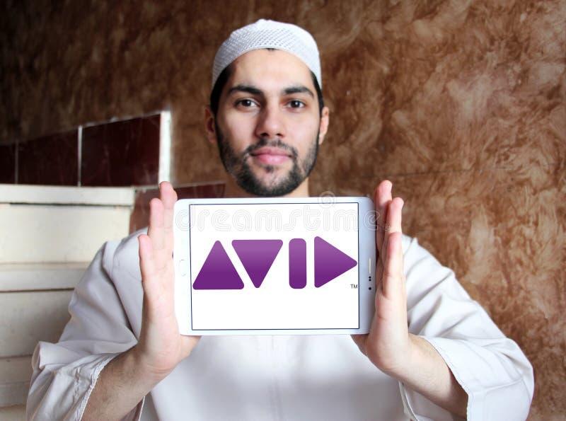 Logo della società di Avid Technology immagini stock