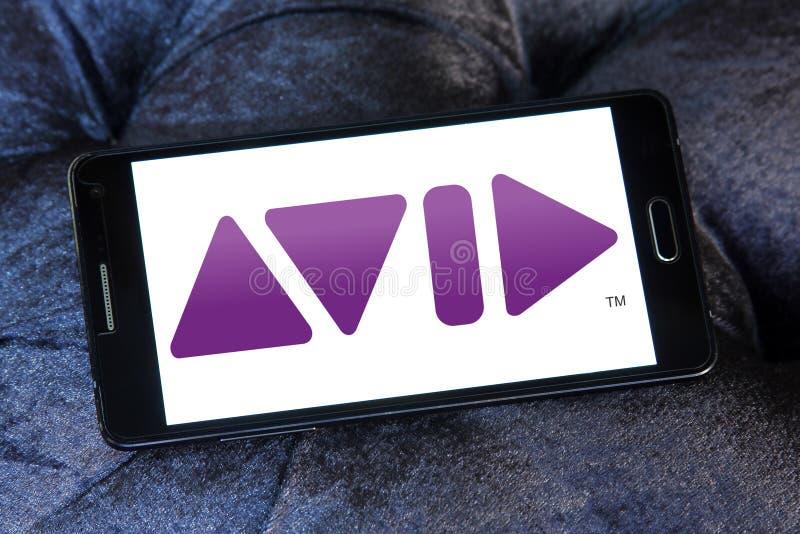 Logo della società di Avid Technology fotografia stock libera da diritti