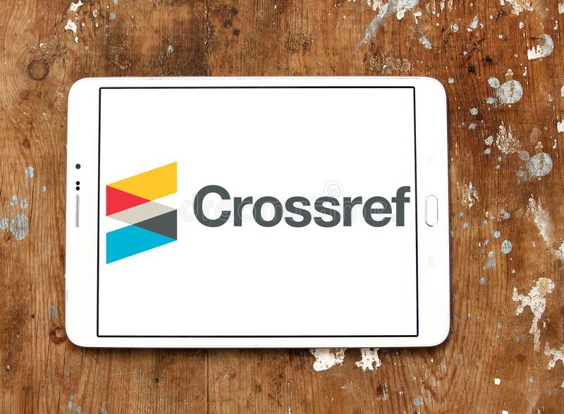 Logo della società di Crossref fotografie stock