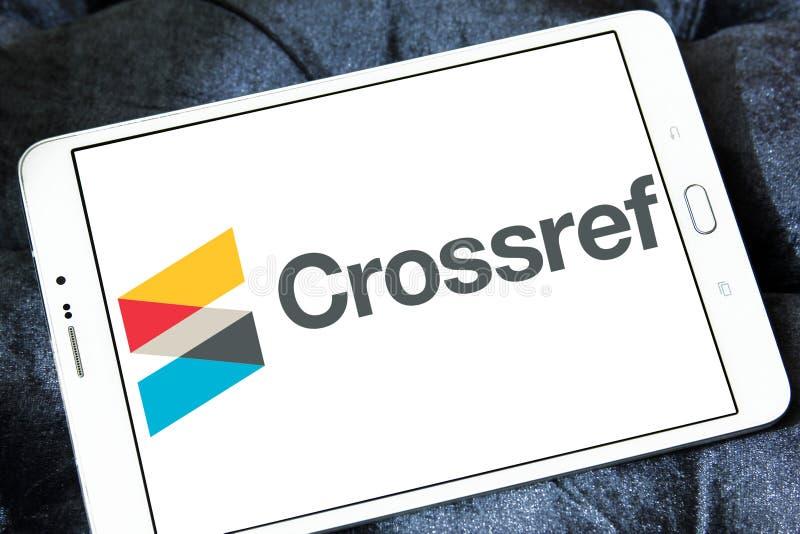 Logo della società di Crossref fotografia stock