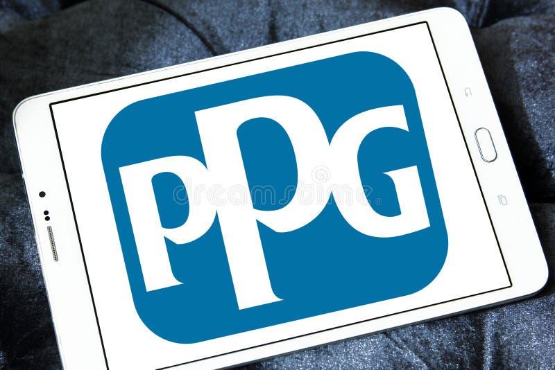 Logo della società di industrie di PPG fotografie stock libere da diritti