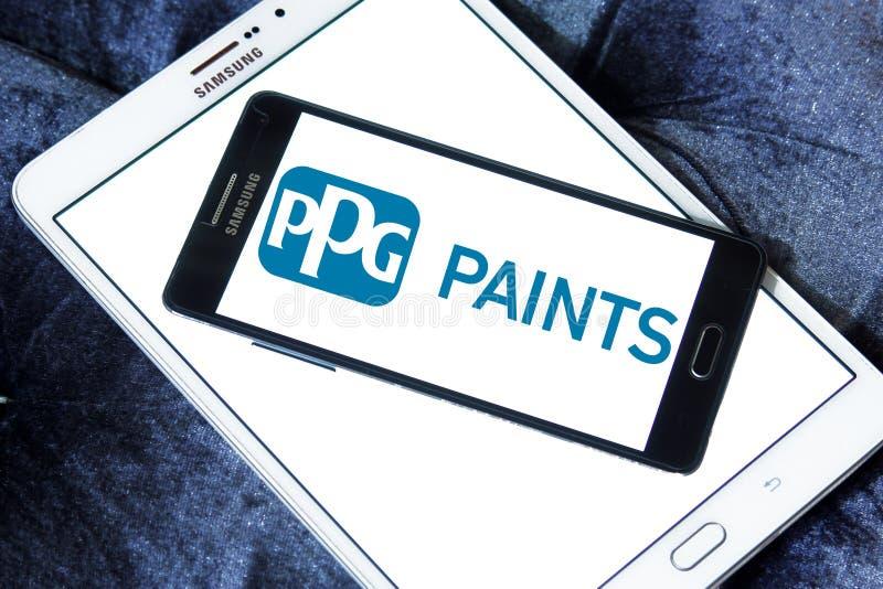 Logo della società di industrie di PPG immagine stock