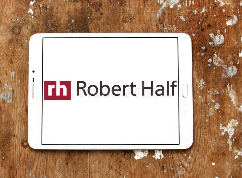 Logo della società di Robert Half International fotografia stock libera da diritti