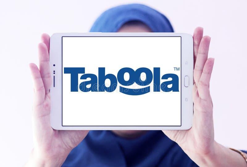 Logo della società di Taboola fotografie stock libere da diritti