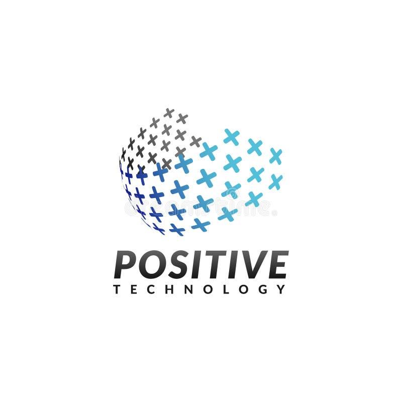 Logo della società di tecnologia illustrazione di stock