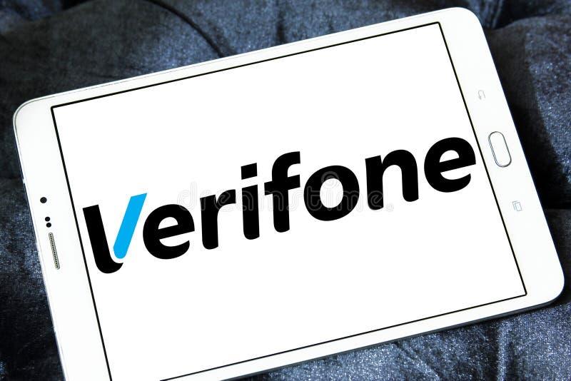 Logo della società di Verifone fotografie stock