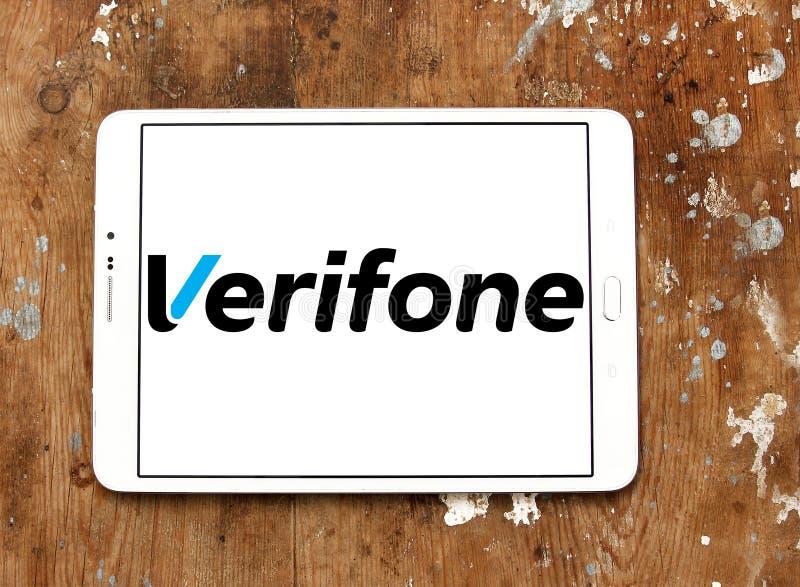 Logo della società di Verifone fotografia stock libera da diritti