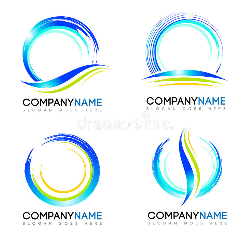 Logo della spruzzata dell'acqua illustrazione di stock
