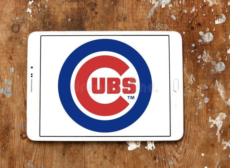 Logo della squadra di baseball di Chicago Cubs fotografie stock libere da diritti