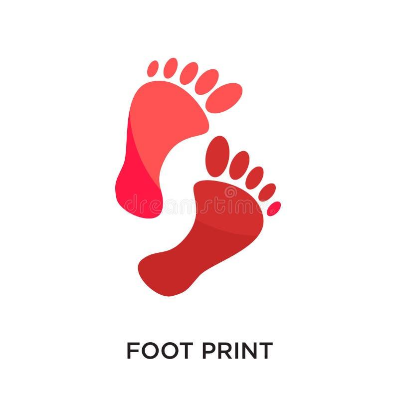 logo della stampa del piede isolato su fondo bianco per il vostro web, mobil fotografia stock libera da diritti