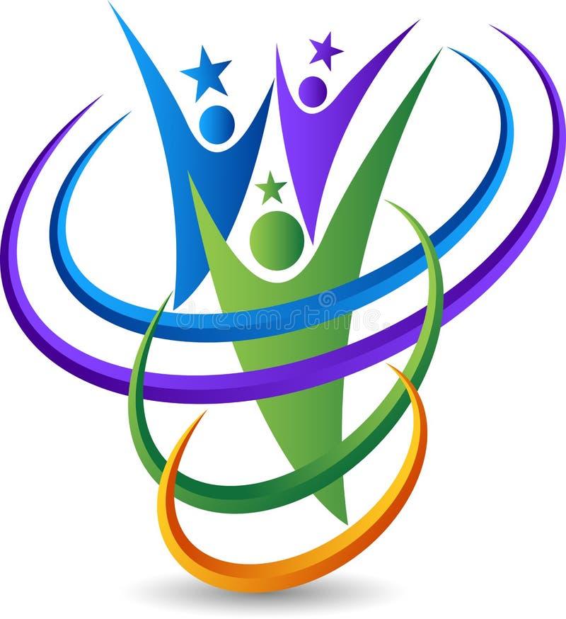Logo della stella delle coppie royalty illustrazione gratis
