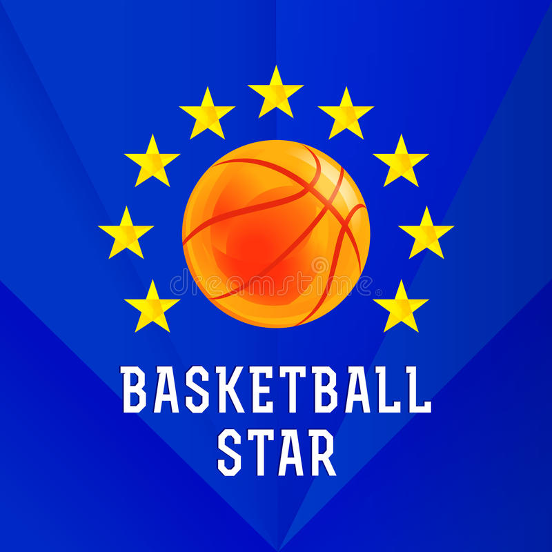 Logo della stella di pallacanestro royalty illustrazione gratis